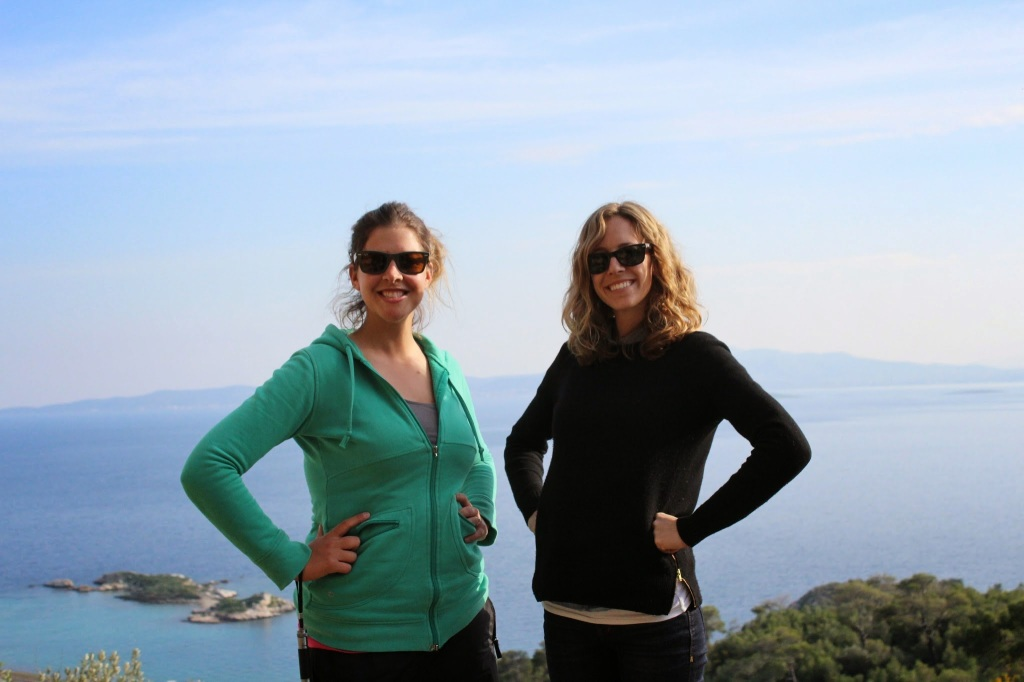 Dr. Chelsea A.M. Gardner and Dr. Carolyn M. Laferrière at the Cave of Euripides, Salamis, Greece