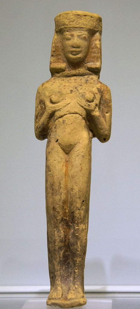 Clay figurine of a female standing figure from Crete