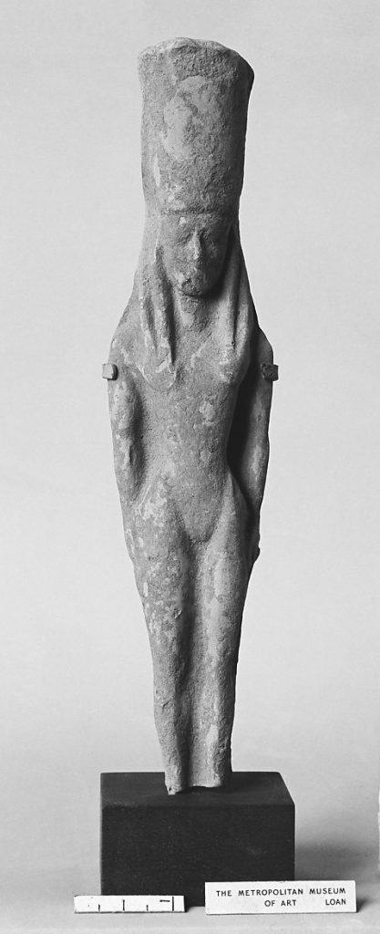 Clay figurine of a standing figure from Crete