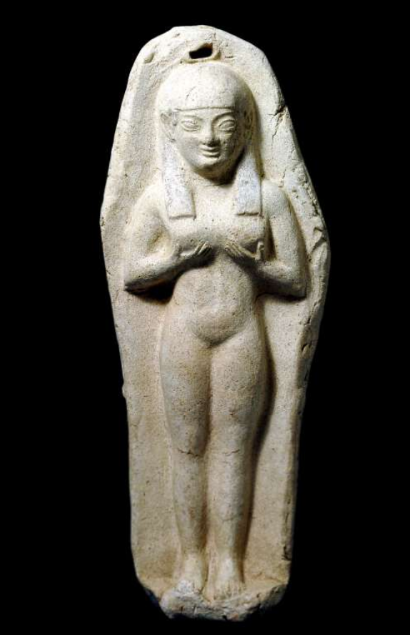 Clay figurine of a female standing figure from Sardinia
