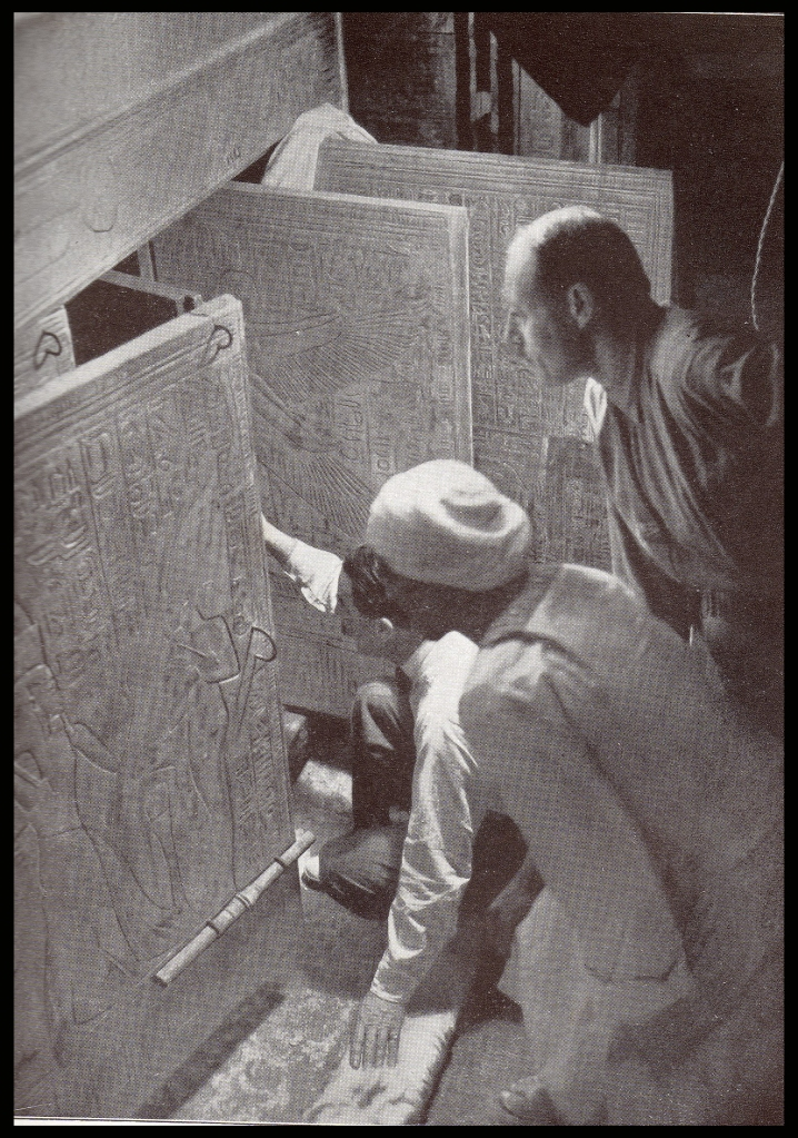 Opening of the tomb of King Tut