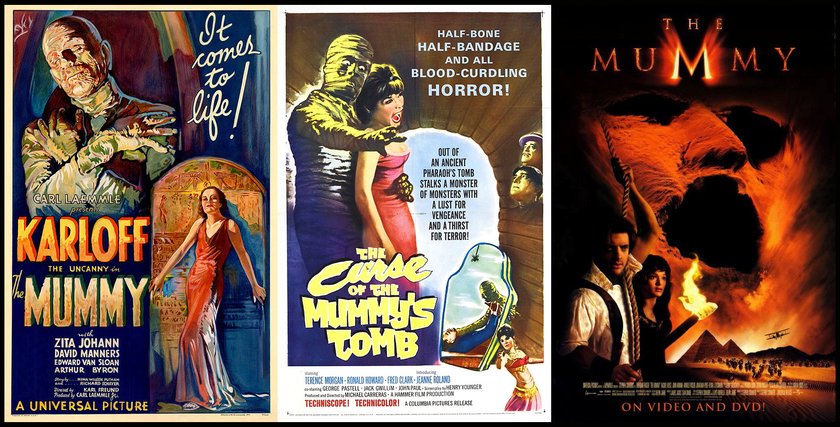 Posters for Films on mummies