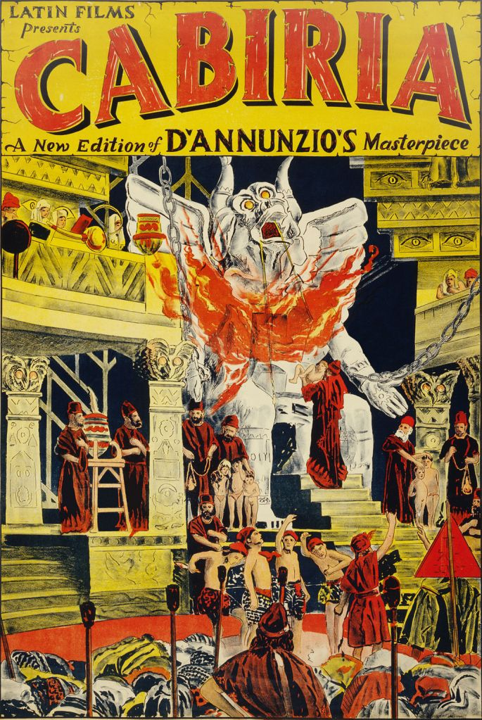 Poster of the movie Cabiria, directed by Giovannia Pastrone