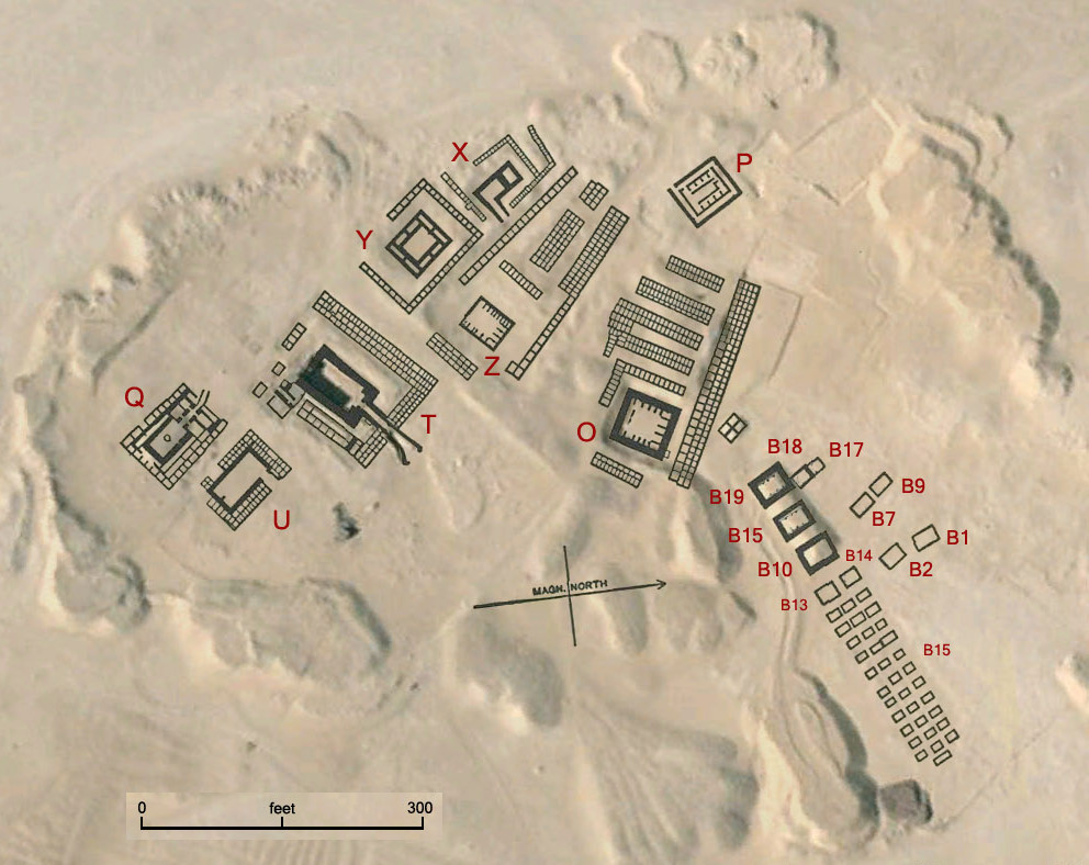Map of the Old Kingdom necropolis at Abydos, Egypt