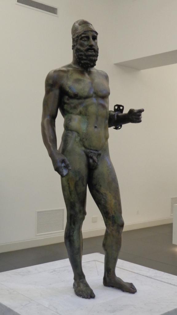 Statue B, Riace Bronzes. Currently in the  Museo Nazionale della Magna Grecia