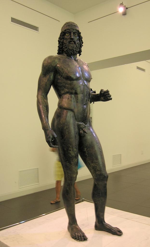 Statue A, Riace Bronzes. Currently in the  Museo Nazionale della Magna Grecia