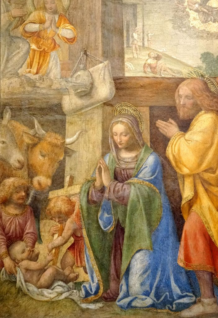 Figure 5. Nativity and Annunciation to the Shepherds (Bernardino Luini, Louvre).