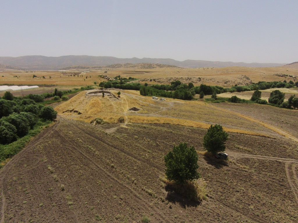 The site of Kani Shaie during excavation in 2015
