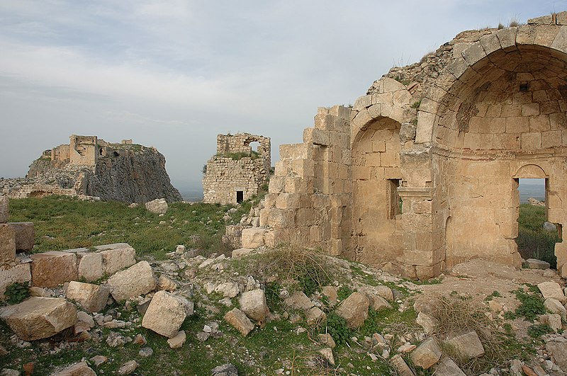 Ruins of the Armenian Church commissioned by Roupenid Prince T'oros at Anavarza.