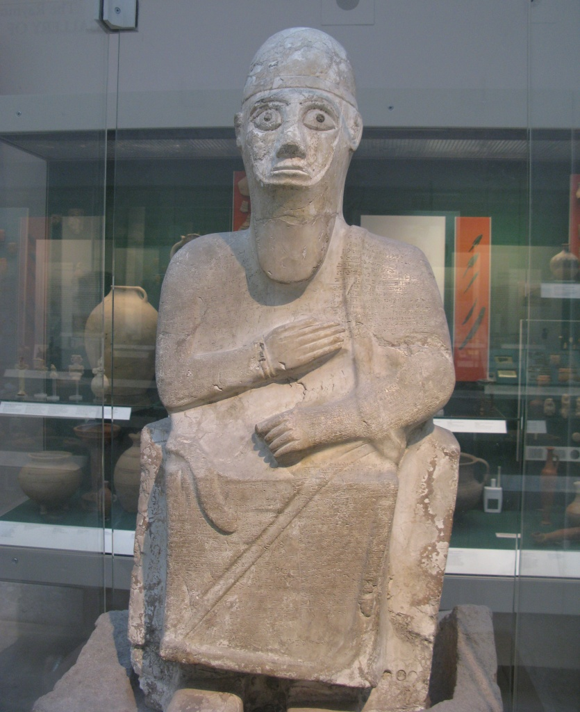 Statue of Alalakh's King Idrimi inscribed with an autobiography detailing his vassalship to the Mitanni