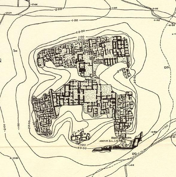 Plan of Yorgan Tepe (Nuzi) including governor's palace