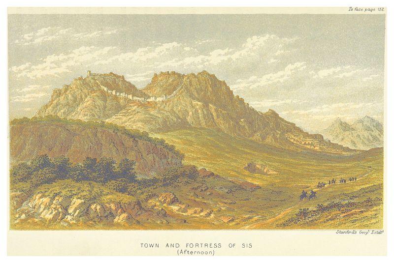 Fortress at the Armenian Cilician Capital at Sis, by Edwin John Davis (1879)