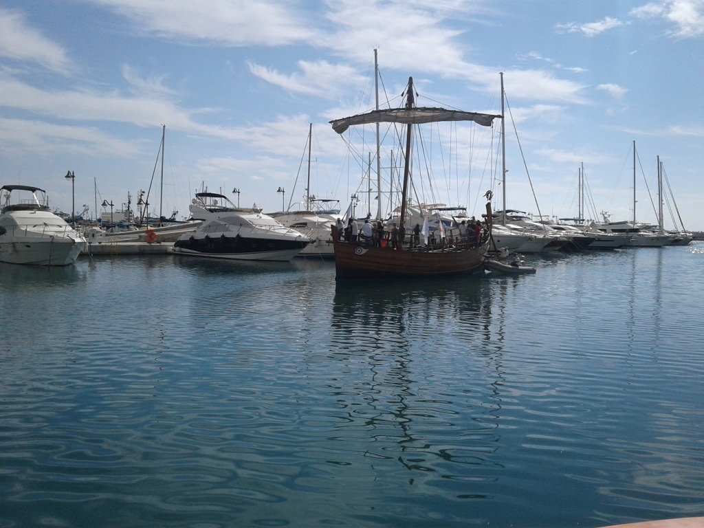 Fig. 1 The Kerynia Liberty sailing into the port of Limassol, Cyprus. The modern yachts in the background help to get a sense of the ship's size.