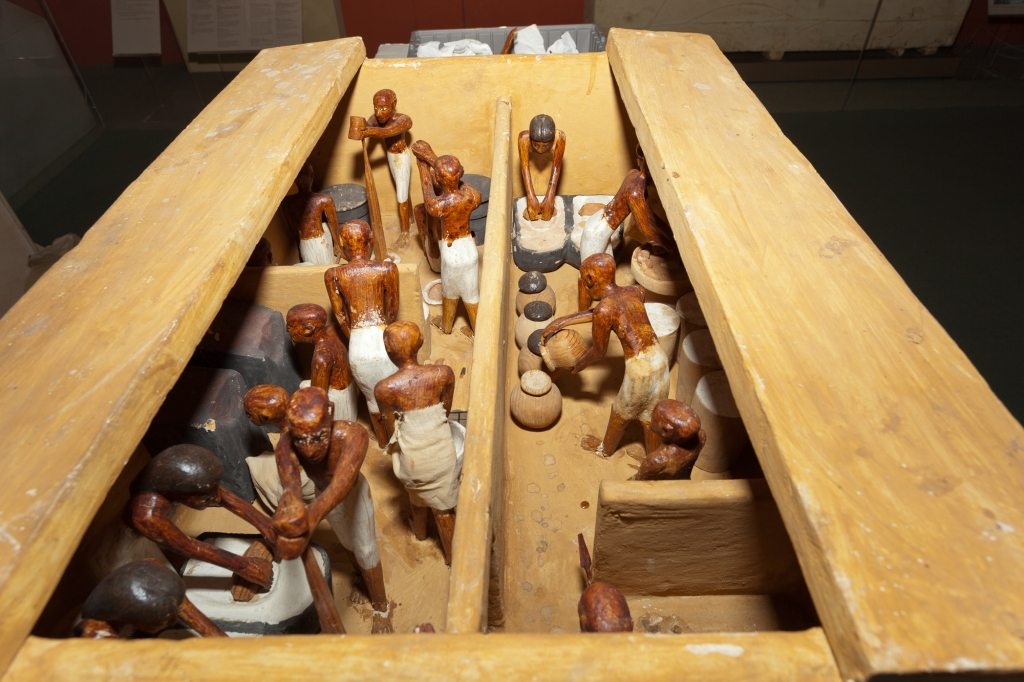 Later Middle Kingdom model of a brewers and bakers, Tomb of Meketre. This image shows the full model