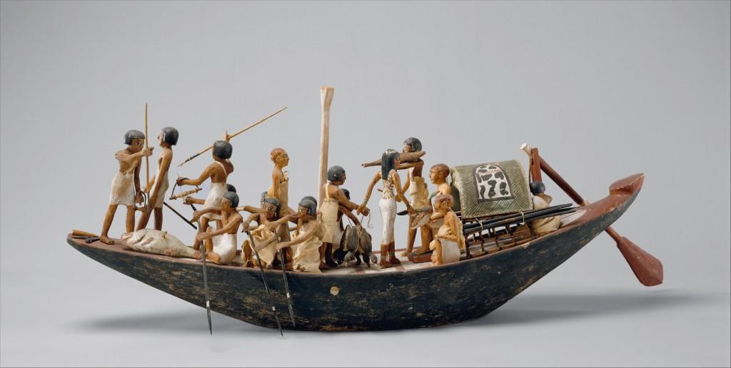 Model of a Sport Boat, Tomb of Meketre, Middle Kingdom (Metropolitan Museum of Art inv. 20.3.6, CCO 1.0).