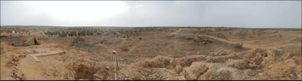 Panoramic view of Zita, Tunisia (photo by H. Barnard)