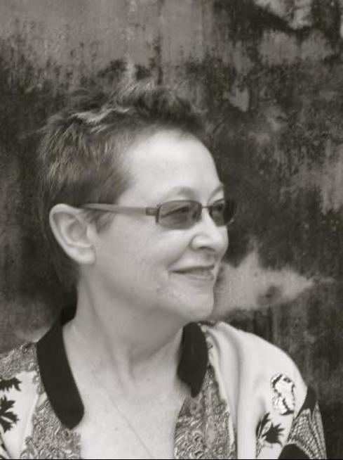 Black and white headshot of Adrienne Mayor